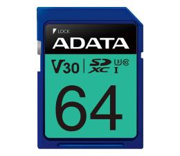 Karta pamięci SD ADATA 64GB Premier Pro U30 V30S