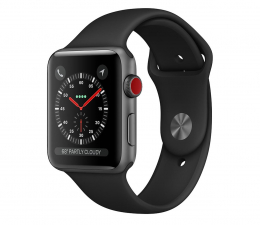 Smartwatch LTE Apple Watch 3 38/Space Gray/Black Sport LTE