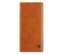 Etui / obudowa na smartfona Nillkin Etui Skórzane Qin do Galaxy Note 10+ brązowy