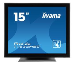 """Monitor LED 21"""" i mniejszy iiyama T1532MSC-B5AG dotykowy"""