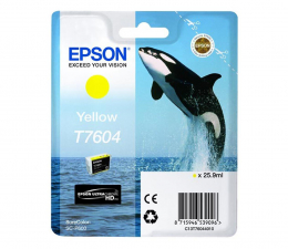 Tusz do drukarki Epson T7604 yellow 25,9ml 2100str. (C13T76044010)