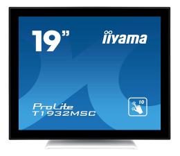 """Monitor LED 21"""" i mniejszy iiyama T1932MSC-W5AG dotykowy biały"""