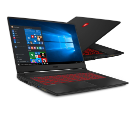 "Notebook / Laptop 17,3"" MSI  GL75 i7-9750H/8GB/256/Win10X GTX1660Ti 120Hz"