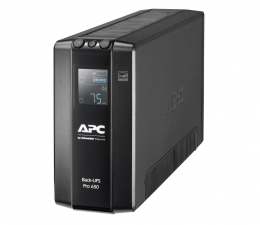 Zasilacz awaryjny (UPS) APC Back-UPS Pro (650VA/390W, 6xIEC, RJ-45, AVR, LCD)
