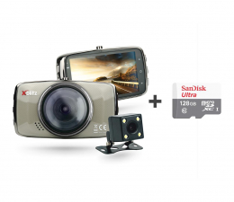 "Wideorejestrator Xblitz DUAL CORE Full HD/3""/170 +Tył 720P/120 + 128GB"