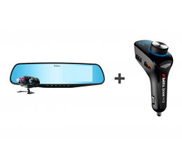 Wideorejestrator Xblitz Park View FullHD + X300 Pro transmiter FM MP3/WMA