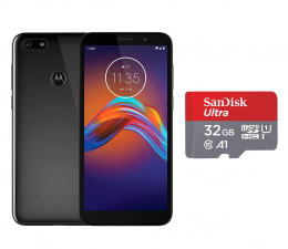 Smartfon / Telefon Motorola Moto E6 Play 2/32GB Dual SIM Steel Black + 32GB