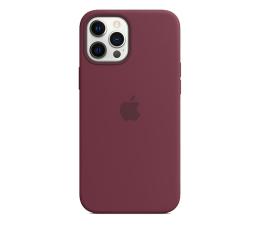 Etui / obudowa na smartfona Apple Silikonowe etui iPhone 12 Pro Max dojrzała śliwka