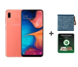 Smartfon / Telefon Samsung Galaxy A20e coral + Rockbox + Navitel