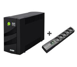 Zasilacz awaryjny (UPS) Ever UPS DUO 550 AVR + Listwa 5 gniazd IEC, 1.5m