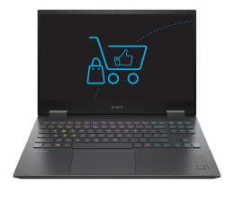 "Notebook / Laptop 15,6"" HP OMEN 15 i7-10750H/16GB/512 RTX2060 4K"