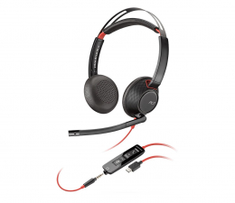 Słuchawki biurowe, callcenter Plantronics Blackwire C5220 USB-C + jack 3,5