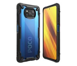 Etui / obudowa na smartfona Ringke Fusion X do Xiaomi POCO X3/X3 Pro czarny