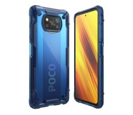 Etui / obudowa na smartfona Ringke Fusion X do Xiaomi POCO X3/X3 Pro niebieski