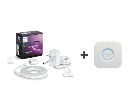 Inteligentna taśma LED Philips Hue Zestaw Taśma LED (2 metry) + Mostek Bridge 2.0