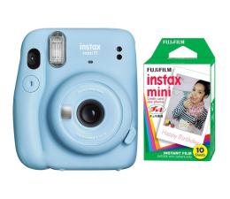 Aparat natychmiastowy Fujifilm Instax Mini 11 niebieski + wkłady (10 zdjęć)