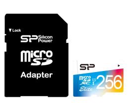 Karta pamięci microSD Silicon Power 256GB microSDXC Elite Colorful 85MB/s C10 UHS-I U1
