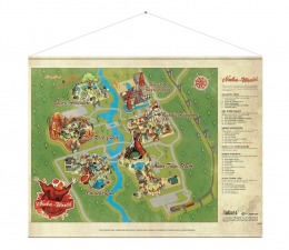 "Plakat z gier Gaya Plakat Fallout ""Nuka World Map"""