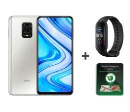 Smartfon / Telefon Xiaomi Redmi Note 9 Pro 6/64GB White + Mi Band 5+ Navitel