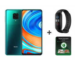 Smartfon / Telefon Xiaomi Redmi Note 9 Pro 6/64GB Green + Mi Band 5+ Navitel