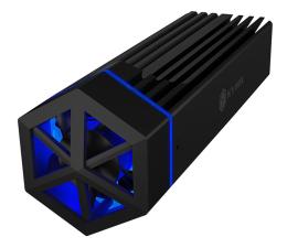 Obudowa dysku ICY BOX USB-C do M.2 NVMe (10 Gbps, Aluminium, RGB)