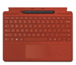 Klawiatura do tabletu Microsoft Type Cover do Surface Pro X + Rysik Poppy Red