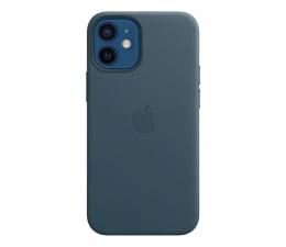 Etui / obudowa na smartfona Apple Skórzane etui iPhone 12 mini bałtycki błękit