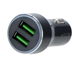 Ładowarka do smartfonów Silver Monkey Ładowarka samochodowa 2x USB, 3A, QC 3.0