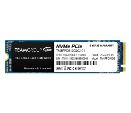 Dysk SSD Team Group 512GB M.2 PCIe NVMe MP33
