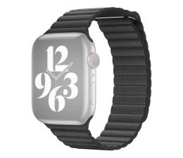 Pasek / bransoletka Apple Pasek skórzany do Apple Watch czarny