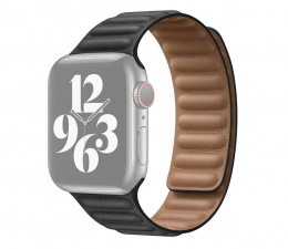 Pasek / bransoletka Apple Pasek z karbowanej skóry Apple Watch czarny