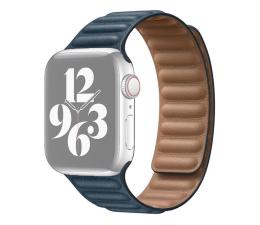 Pasek / bransoletka Apple Pasek z karbowanej skóry Apple Watch błękitny