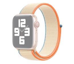 Pasek / bransoletka Apple Opaska Sportowa do Apple Watch kremowy