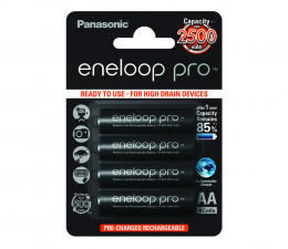 Akumulator uniwersalny Panasonic Eneloop Pro R6/AA 2500 mAh (4 sztuki)