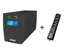 Zasilacz awaryjny (UPS) Ever EASYLINE 650 AVR USB + Listwa Classic 5 gniazd, 5m