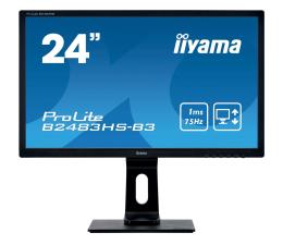 "Monitor LED 24"" iiyama B2483HS czarny"