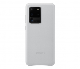 Etui / obudowa na smartfona Samsung Leather Cover do Galaxy S20 Ultra Light Gray