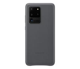 Etui / obudowa na smartfona Samsung Leather Cover do Galaxy S20 Ultra Gray