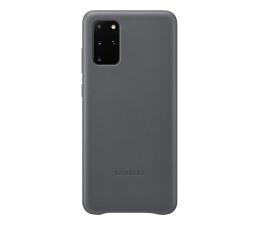 Etui / obudowa na smartfona Samsung Leather Cover do Galaxy S20+ Gray