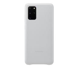 Etui / obudowa na smartfona Samsung Leather Cover do Galaxy S20+ Light gray