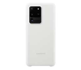 Etui / obudowa na smartfona Samsung Silicone Cover do Galaxy S20 Ultra White