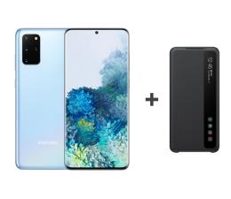 Smartfon / Telefon Samsung Galaxy S20+ G985F Dual SIM Blue + Clear View Cover