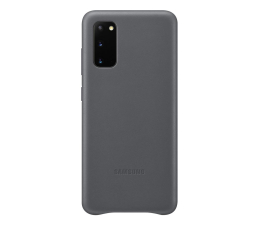 Etui / obudowa na smartfona Samsung Leather Cover do Galaxy S20 Gray