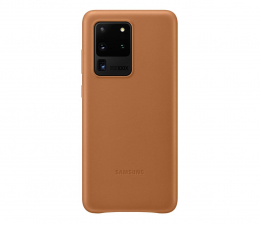 Etui / obudowa na smartfona Samsung Leather Cover do Galaxy S20 Ultra Brown