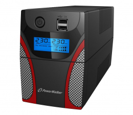 Zasilacz awaryjny (UPS) Power Walker LINE-INTERACTIVE (650VA/360W, 2x FR, LCD, AVR)