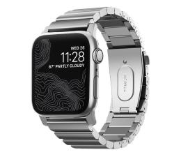 Pasek / bransoletka Nomad Bransoleta Tytanowa do Apple Watch srebrny