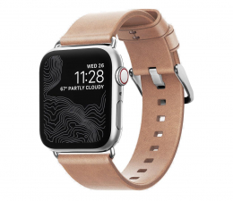 Pasek / bransoletka Nomad Pasek Skórzany do Apple Watch 38/40mm Silver
