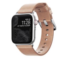 Pasek / bransoletka Nomad Pasek Skórzany do Apple Watch sebrny