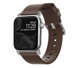 Pasek / bransoletka Nomad Pasek Skórzany do Apple Watch brązowo-srebrny