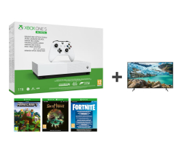 Konsola Xbox Microsoft Xbox One S All-Digital Edition + TV